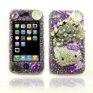 3D Custom Swarovski Hello Kitty Crystal Bling Case Cover for Apple