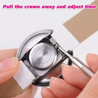 PU Leather Transparent Alloy Quartz Lady Girl Wrist Watch Xmas Gift