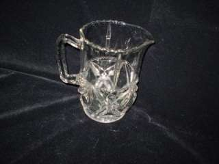 EAPG, Clear, Crystal, Diamond Design, 1 1/2 Qt, Water Pitcher