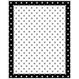Black & White Polka Dot Magnetic Dry Erase Board with Dry Erase Marker