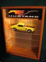 LIGHTED 118 DIECAST MODEL 3 CAR MUSTANG DISPLAY CASE
