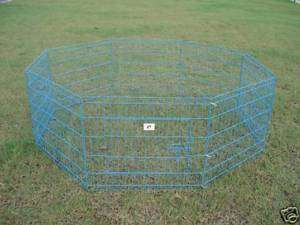 30 Blue Pet Dog Cat Play Exercise Pen Fence w/Case 4U 814836012959