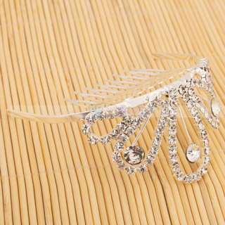 Wedding Bridal Rhinestone Crown Bridal Hair Comb Tiara Pin 003