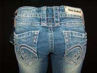 Womens ROCK REVIVAL Boot Cut Jeans ADELE B with Studs