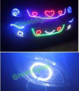 Super Bright 45cm 45 LEDS SMD 12V Car Flexible LED Eyebrow Strip Light