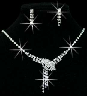The Latest Craze Pretty Wedding/Bridal Czech Crystal Necklace Sets In
