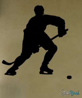 Vinyl Wall Decal Sticker Hockey Player Custom 50x38 #221