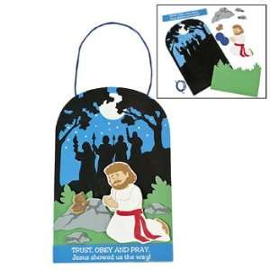 Jesus Praying In The Garden Sign Craft Kit   Craft Kits & Projects
