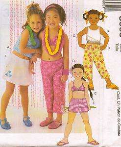 Childrens and Girls Tops, Bikini Top, Capri Pants, Shorts, Skort