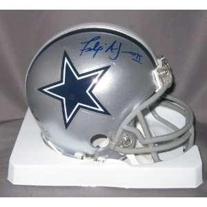 Felix Jones Signed Dallas Cowboys Mini Helmet Sports