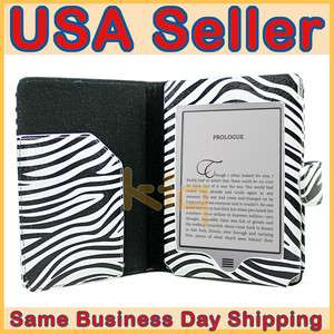 Leather Pouch Case Cover for  Kindle Touch 6 + Screen Protector