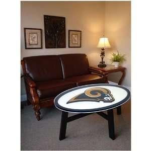 St. Louis Rams Helmet Design Coffee Table