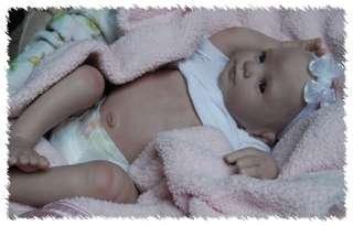 HOLLY ooak doll lifelike art ARTIST Baby GIRL Donna RuBert