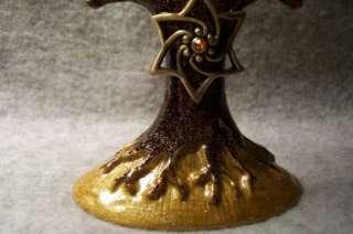 Enamel Tree of Life~Star David~Hanukkah Menorah Candle Holder