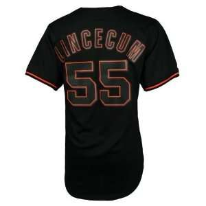 Tim Lincecum #55 San Francisco Giants Pitch Black Jersey