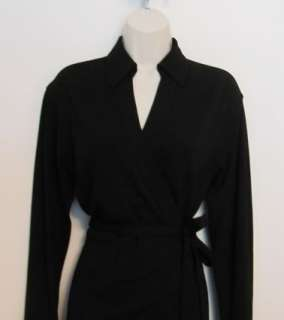 Diane von Furstenberg Helena black jersey dress wrap 2 DVF New NWT