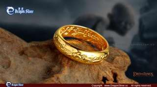 Magical 24 k gold plated Ring Lord of the Rings