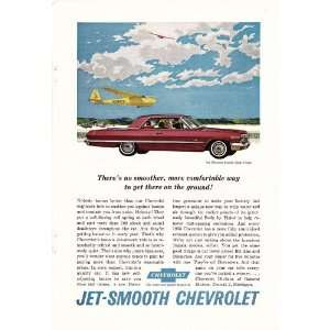 1963 Ad Red Chevy Impala Sport Coupe No Smoother Way Original Car