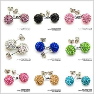 10mm Swarovski Crystal Disco Ball Beads Cute Silver