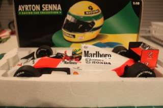 18 Minichamps Ayrton Senna McLaren MP4/5B 1990 World Champion Die