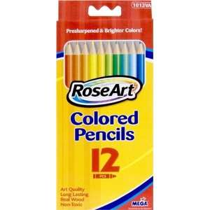 Rose Art Colored Pencils, Presharpened, Nontoxic, 12/BX