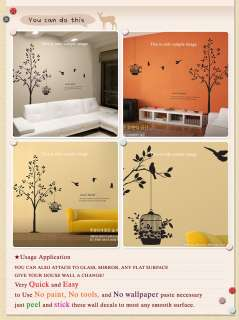 ROMANTIC TREE BIG Graphic Vinyl Wall Art Decals Sticker