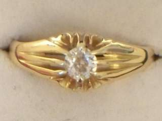 CHESTER 18CT GOLD GENTS DIAMOND SIGNET RING OVER ½ CARAT