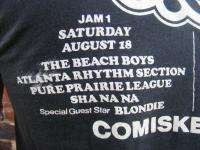 vtg 70s CHICAGO JAM concert RUSH BLONDIE t shirt S 1979