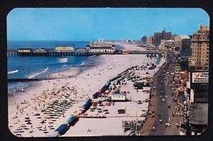 1950s Boardwalk Ballentine Beer Pier Atlantic City NJ