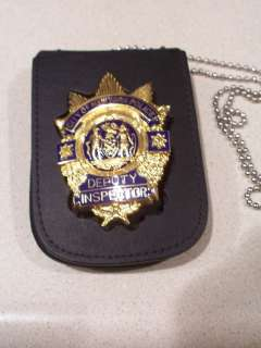 NYPD Captain/Deputy Inspector Style Badge Cut Out/ID Card Neck Hanger