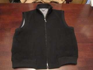 Nicklaus Mens Premium Cashmere Wool Black Golf Spring Vest Shirt Sz M