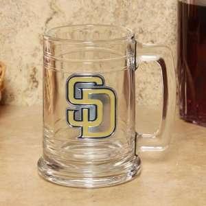 MLB San Diego Padres 15oz. Team Logo Tankard Glass Sports