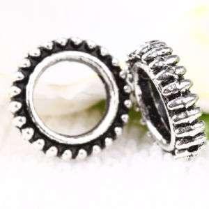 70pc Tibetan Silver Circle Bead Frames CA319