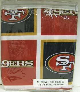 San Francisco 49ers 72x72 Fabric Bathroom Shower Curtain On PopScreen