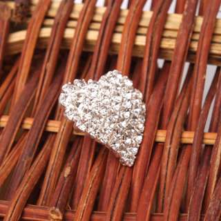 Lovely Fashion Peach Heart Crystal Studs Earrings NEW