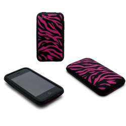 Pink Zebra Image Laser Cover Skin for iPhone 3G