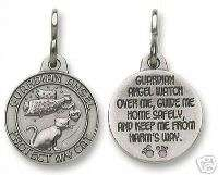 Guardian Angel Cat Medal Charm Tag