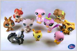 10 Littlest Pet Shop LPS Girl Toy Animal Figures Child Girl Xmas PS09