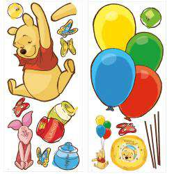 RoomMates Winnie the Pooh and Piglet Peel and Stick Giant Wall Decal
