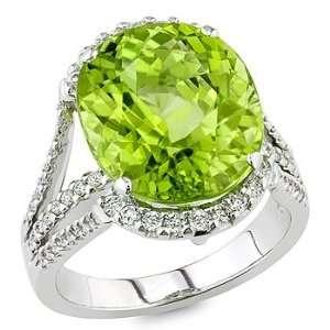 Green tourmaline and white diamond gold ring. Vanna Weinberg Jewelry