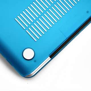 Aqau Blue Rubberized Hard Case Skin for MacBook Pro 13+TPU Clear