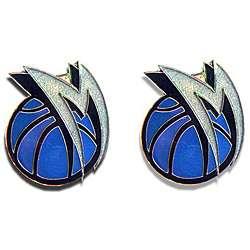 Dallas Mavericks NBA Charm Post Stud Logo Earring Set