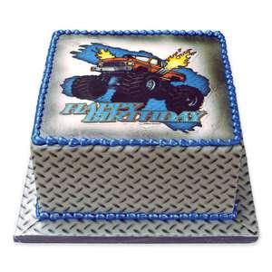 Monster Truck 4x4 Birthday Edible Image Cake Decoration Topper LUCKS
