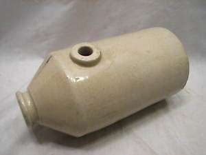 ANTIQUE STONEWARE POTTERY FOOT WARMER JUG BOTTLE