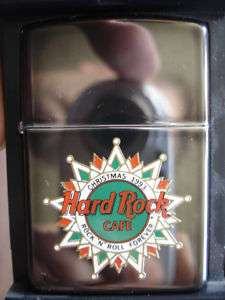 ZIPPO HRC HARD ROCK CAFE 1993 CHRISTMAS EMPLOYEES NEW