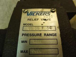 26162 NEW Vickers CS06F50 Relief Valve Pressure Range