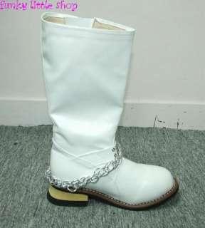 Punk Rock Goth white engineer cowboy boots EUR 34   44