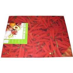Chili Pepper Print 12x16 inch Glass Cutting Board