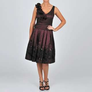 Fashions Womens Taffeta Winter Rose Party Dress  Overstock