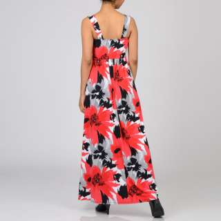 Tiana B Womens Red Poppy Jersey Maxi Dress